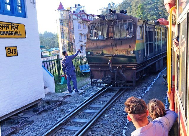 Summerhill Station on the Toy Train route India - photo Zoe Dawes