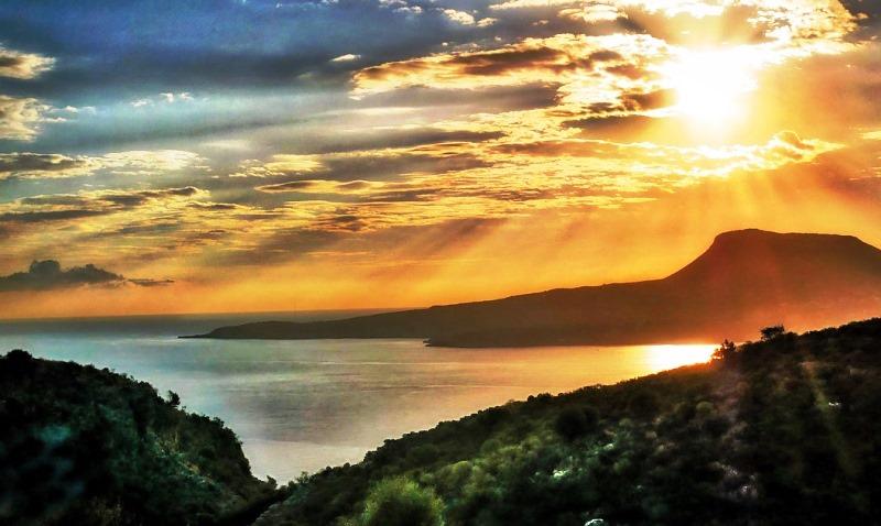 Cretan sunset Greece