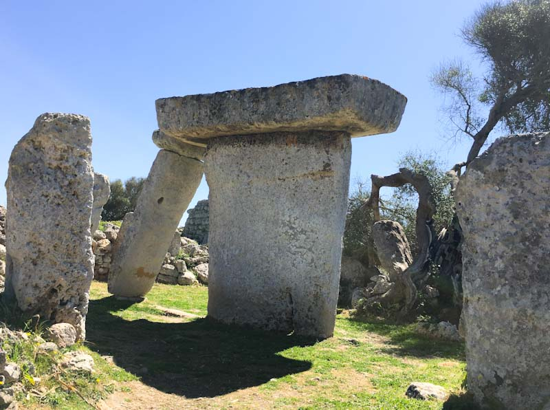 Talati de Dalt prehistoric monument on Menorca in the Balearics, Spain. Photo Zoe Dawes