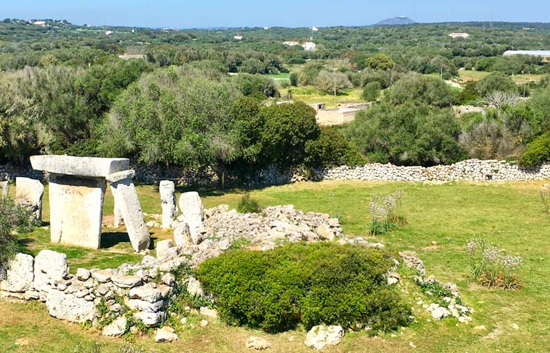 Talati de Dalt prehistoric site on Menorca, in the Spanish Balearic islands. Photo Zoe Dawes