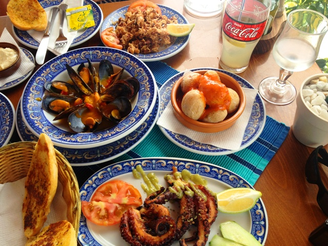 Spanish Tapas in Puerto de Mogan Gran Canaria Spain