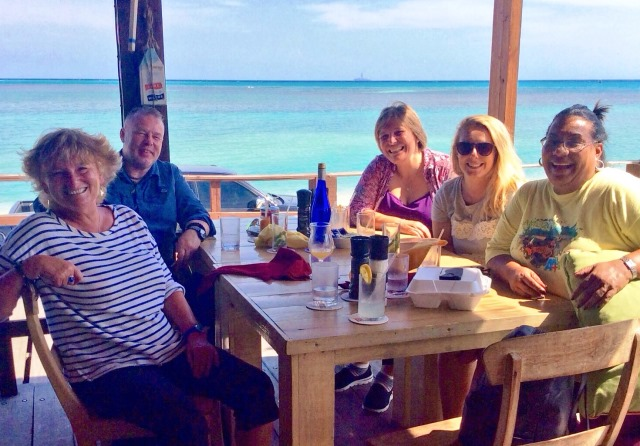 Lunch at The West Deck Aruba