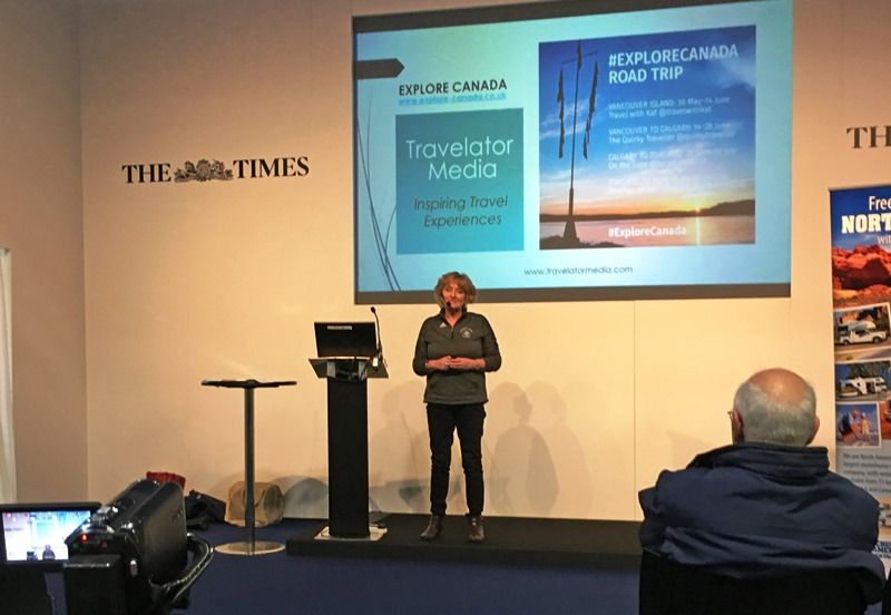 The Quirky Traveller speaks at Sunday Times Travel Show
