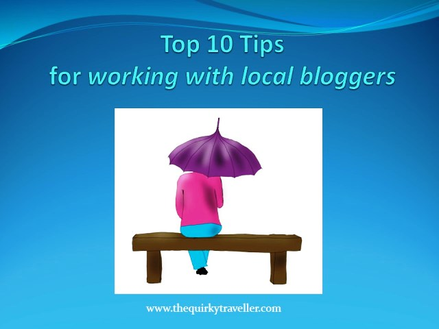 Top 10 Tips for working with local bloggers - zoedawes