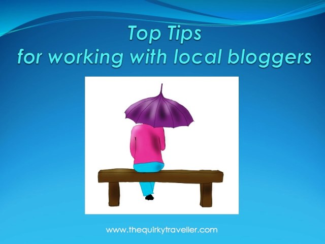 Top Tips for Working with LOCAL Bloggers