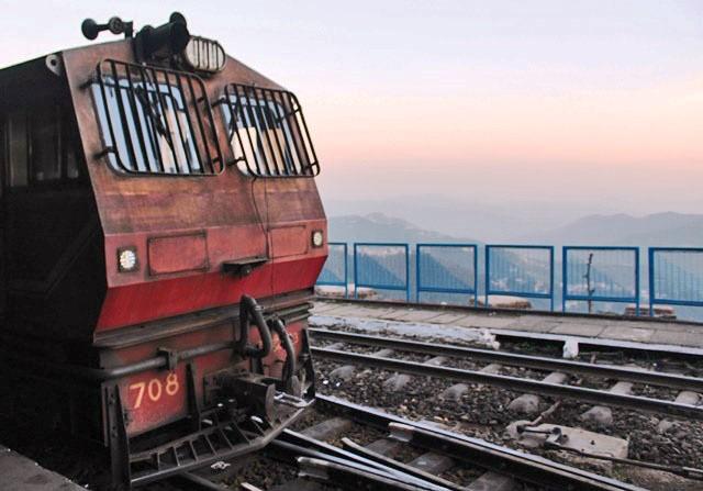 Toy Train engine at Shimla station - India - photo Zoe Dawes