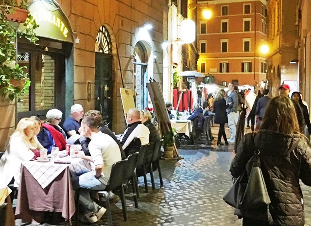 Trastevere at night - 48 hours in Rome