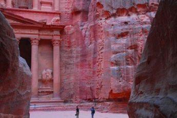 The Treasury at sunset Petra Jordan