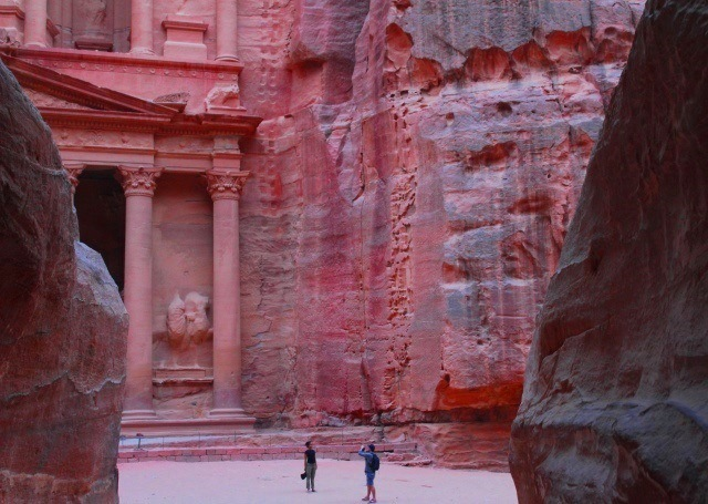 The Treasury at sunset Petra Jordan