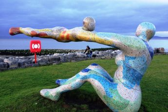 Venus and Cupid sculpture Morecambe Lancashire - photo Zoe Dawes
