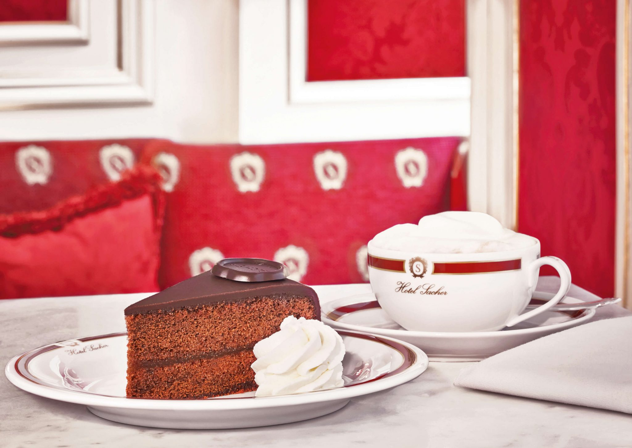 Sachertorte at Hotel Sacher Vienna - Best cakes in Europe - photo ©Cafe Sacher