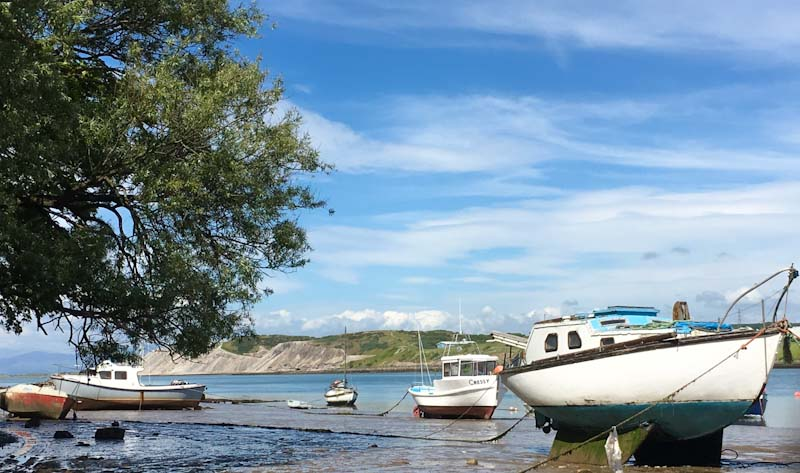 Yachts on Walney Island and the Lake District fells - photo Zoe Dawes