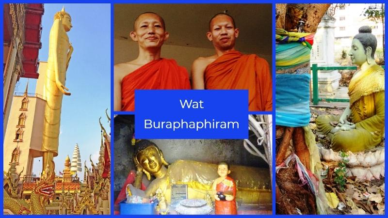 Tallest Buddha - Wat Buraphiphiram Roi Et North East Thailand