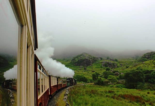 Welsh Highland Railway steam train Snowdonia - North Wales