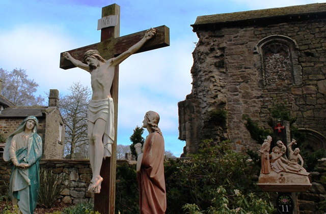 Crucifix Whalley Abbey Lancashire