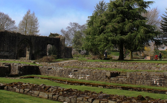 Whalley Abbey ruins Lancashire