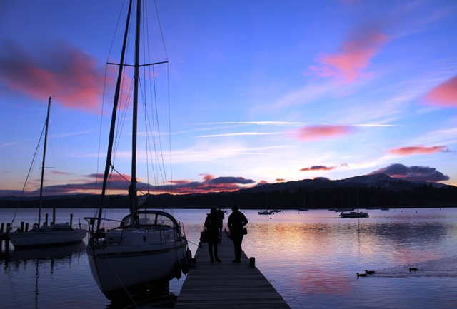 Sunset over Windermere in English Lake District - photo Zoe Dawes