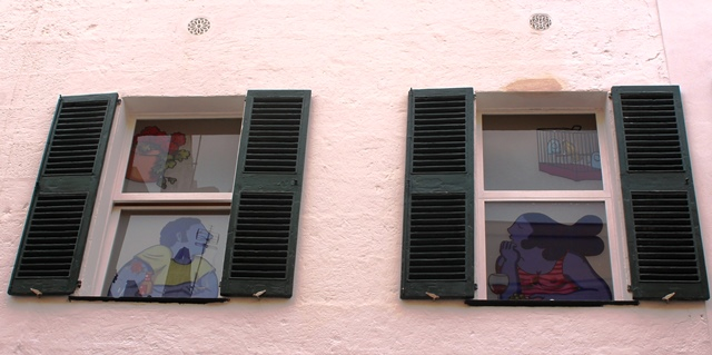 Window Street Art Ciutadella