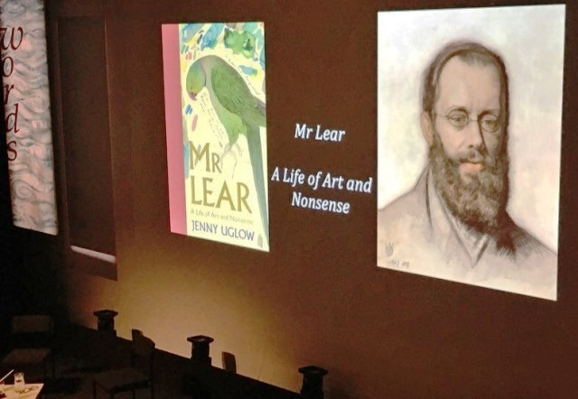 Edward Lear talk at Words By the Water Theatre by the Lake Keswick Literary Festival