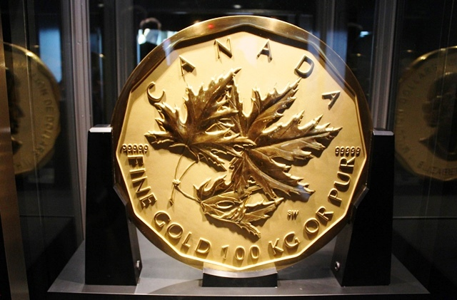 World first million dollar gold coin British Columbia museum - photo zoedawes
