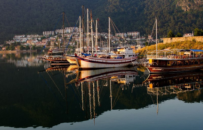 Yachts at Fethiye - Turquoise Coast Turkey