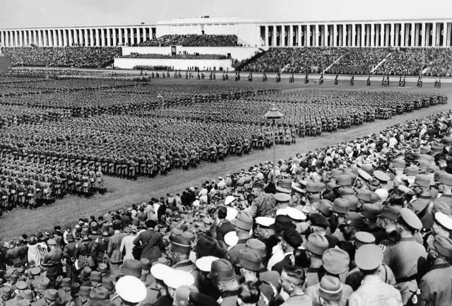Nazi Party Rally at the Zeppelin Field Nuremberg Germany
