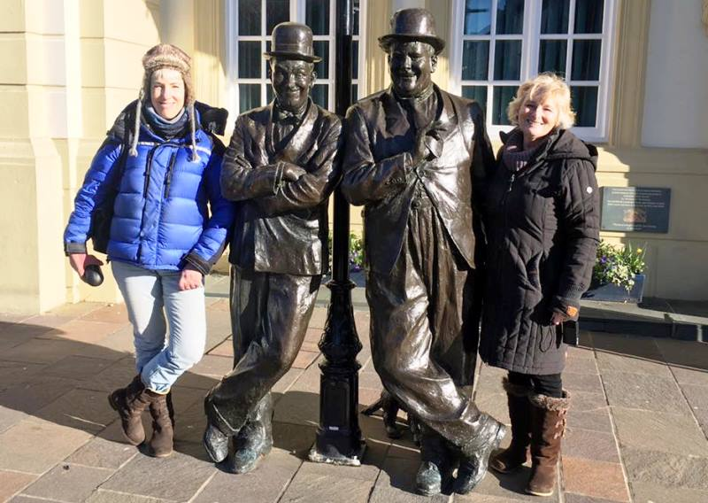 Laurel and Hardy statue in Ulverston