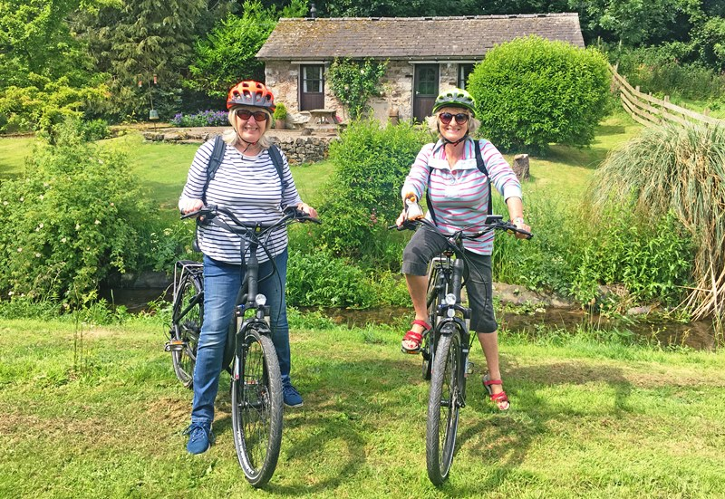 Setting off on electric bike ride - Gleaston Water Mill Cumbria - the Quirky Traveller