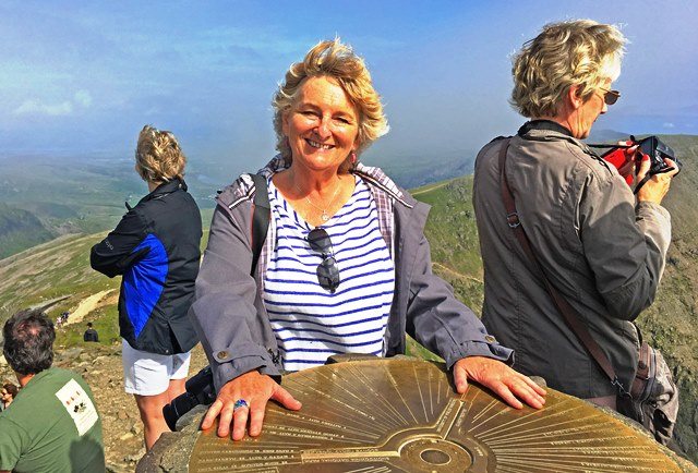 Zoe Dawes on top of Snowdon - North Wales