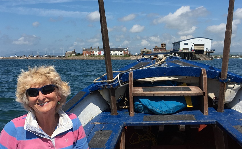 The Quirky Traveller on the Piel Island Ferry to Roa Island off the coast of Cumbria