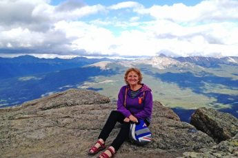 Zoe aka The Quirky Traveller on Whistler Mountain Jasper in The Rockies Canada