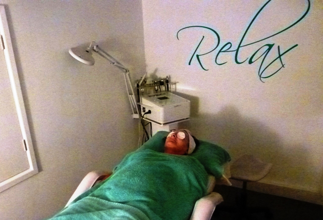 Relaxing with beauty treatment at Belissimo Salon in Kendal